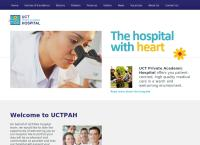 Uct Private Academic Hospital's website