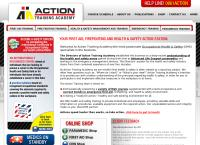Action Training Academy's website