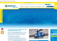 Zodiac Pool Care's website