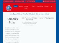 Roman's Pizza's website