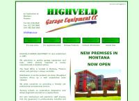 Highveld Garage Equipment's website
