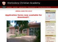Klerksdorp Christian Academy's website