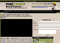 Pine Timber Board Express's website