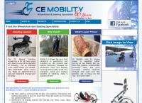 CE Mobility Wheelchairs's website