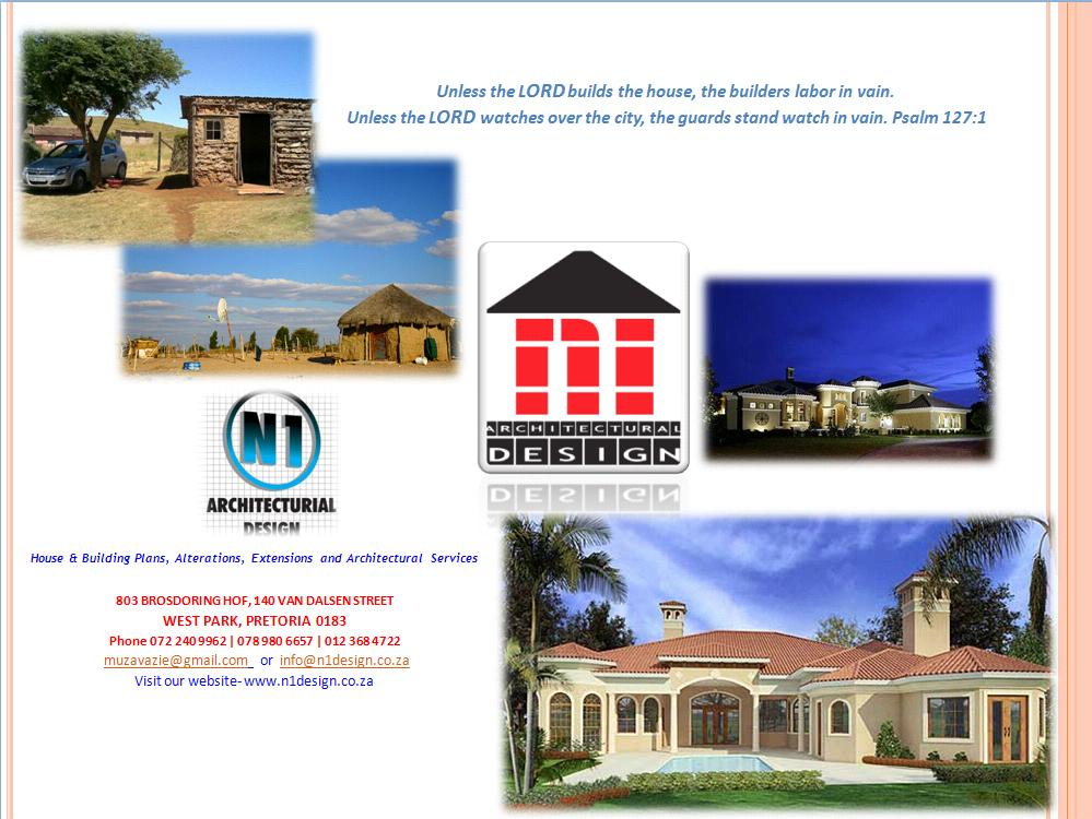 N1 architectural designs pretoria cylex profile for Copying house plans