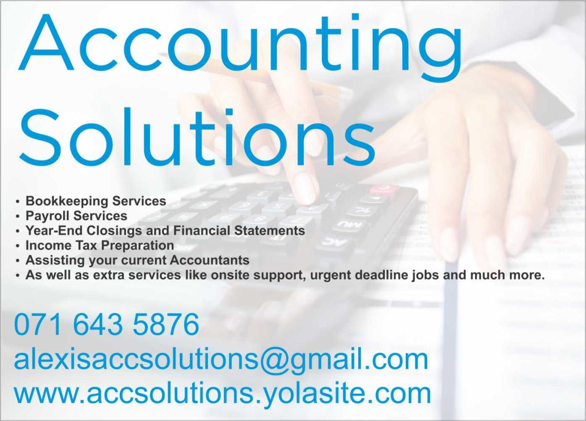 accounting solutions Accounting solutions of fredericksburg virginia specializes in individual and business income tax and accounting services.