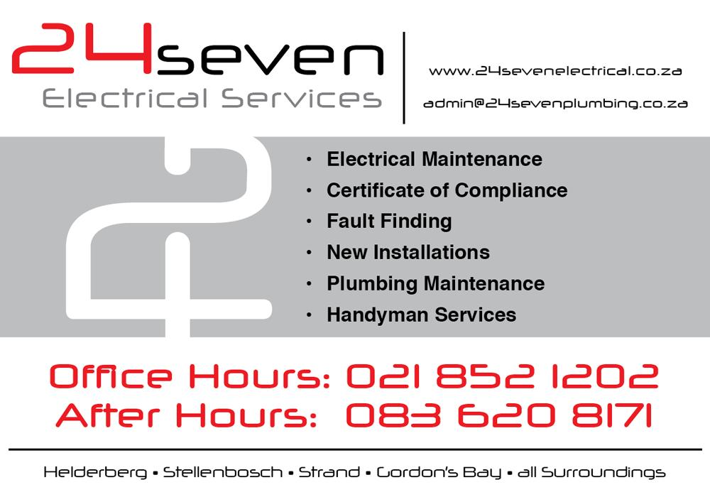 24SEVEN ELECTRICAL SERVICES Cape Town