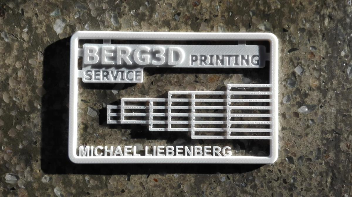 Nice 3d Printed Business Cards Gallery - Business Card Ideas ...