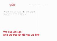 Ode Design's website