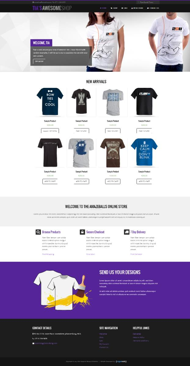 Rogueweb johannesburg cylex profile for T shirt ecommerce website